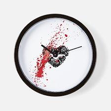 Lipstick grunge Wall Clock