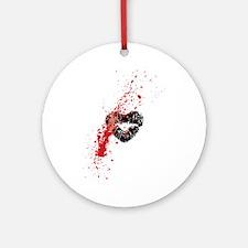 Lipstick grunge Ornament (Round)