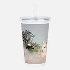 Hotot in Snow Acrylic Double-wall Tumbler