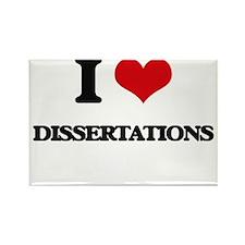 I Love Dissertations Magnets