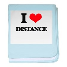 I Love Distance baby blanket