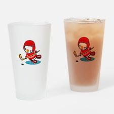 Ice Hockey Penguin (R) Drinking Glass