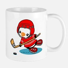 Ice Hockey Penguin (R) Mugs