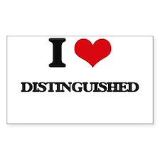 I Love Distinguished Decal