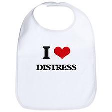 I Love Distress Bib