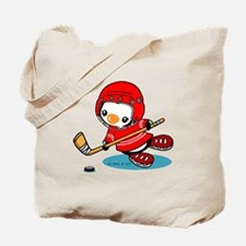 Ice Hockey Penguin (R) Tote Bag