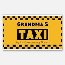 Grandma Taxi Bumper Stickers