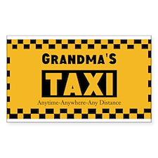Grandma Taxi Decal