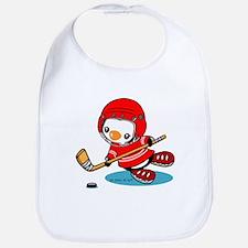 Ice Hockey Penguin (R) Bib