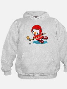 Ice Hockey Penguin (R) Hoodie