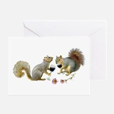 Squirrels Wedding Wine Greeting Card