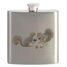 Squirrels Wedding Wine Flask