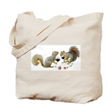 Squirrels Wedding Wine Tote Bag