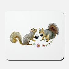 Squirrels Wedding Wine Mousepad