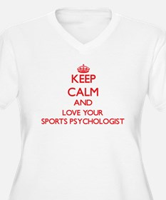 Keep Calm and love your Sports P Plus Size T-Shirt