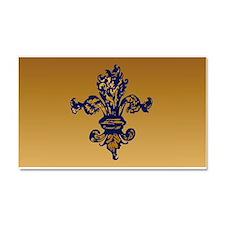 Enchanted Gold Fleur Car Magnet 20 X 12