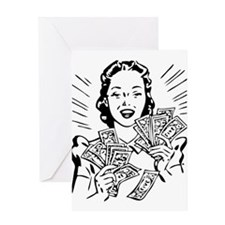 Rich girl Greeting Cards