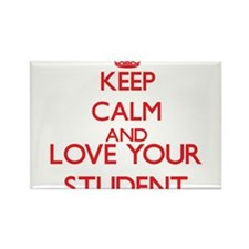 Keep Calm and love your Student Magnets