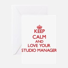 Keep Calm and love your Studio Mana Greeting Cards