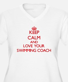 Keep Calm and love your Swimming Plus Size T-Shirt