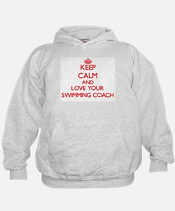 Keep Calm and love your Swimming Coach Hoodie