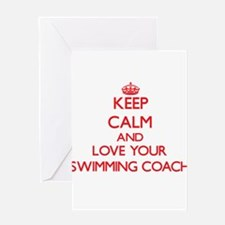 Keep Calm and love your Swimming Co Greeting Cards
