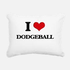 I Love Dodgeball Rectangular Canvas Pillow