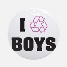 Recycle Boys Ornament (Round)