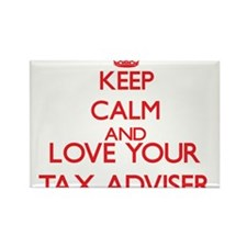 Keep Calm and love your Tax Adviser Magnets