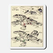 P-61 Blower Schematic Mousepad