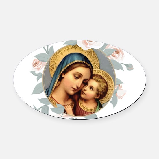 Our Lady of Good Remedy Oval Car Magnet