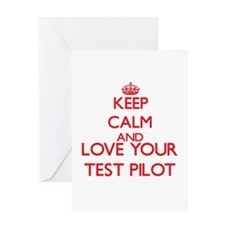 Keep Calm and love your Test Pilot Greeting Cards