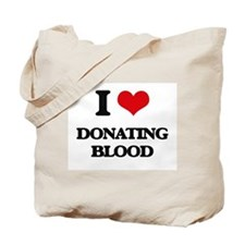 I Love Donating Blood Tote Bag