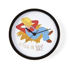 Hitting Hay Wall Clock
