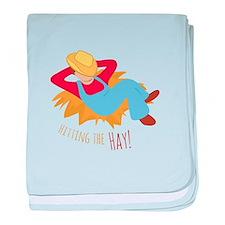 Hitting Hay baby blanket