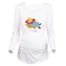Hitting Hay Long Sleeve Maternity T-Shirt
