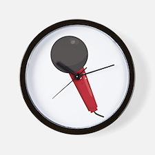 Singing Microphone Wall Clock