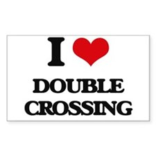 I Love Double Crossing Decal