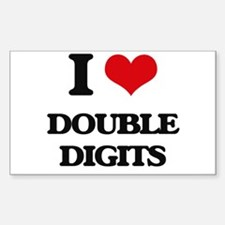 I Love Double Digits Decal