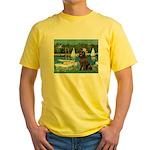 Sailboats & Newfoundland Yellow T-Shirt