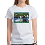 Sailboats & Newfoundland Women's T-Shirt