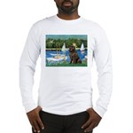 Sailboats & Newfoundland Long Sleeve T-Shirt
