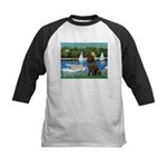 Sailboats & Newfoundland Kids Baseball Jersey