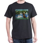 Sailboats & Newfoundland Dark T-Shirt