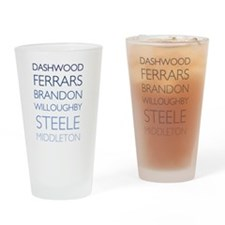 The Names of Sense and Sensibility Drinking Glass