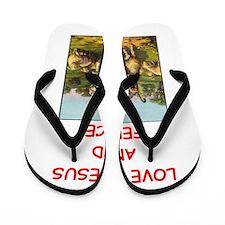 i love fencing Flip Flops