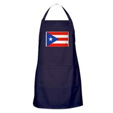 Puerto Rican Boricua Flag Bandera Org Apron (dark)
