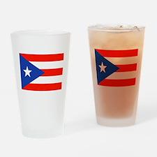 Puerto Rican Boricua Flag Bandera O Drinking Glass