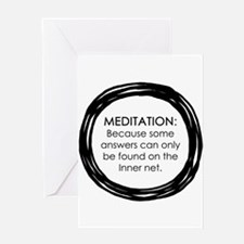Meditation Inner Net Enso Quote Greeting Cards