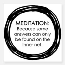 Meditation Inner Net Enso Quote Square Car Magnet